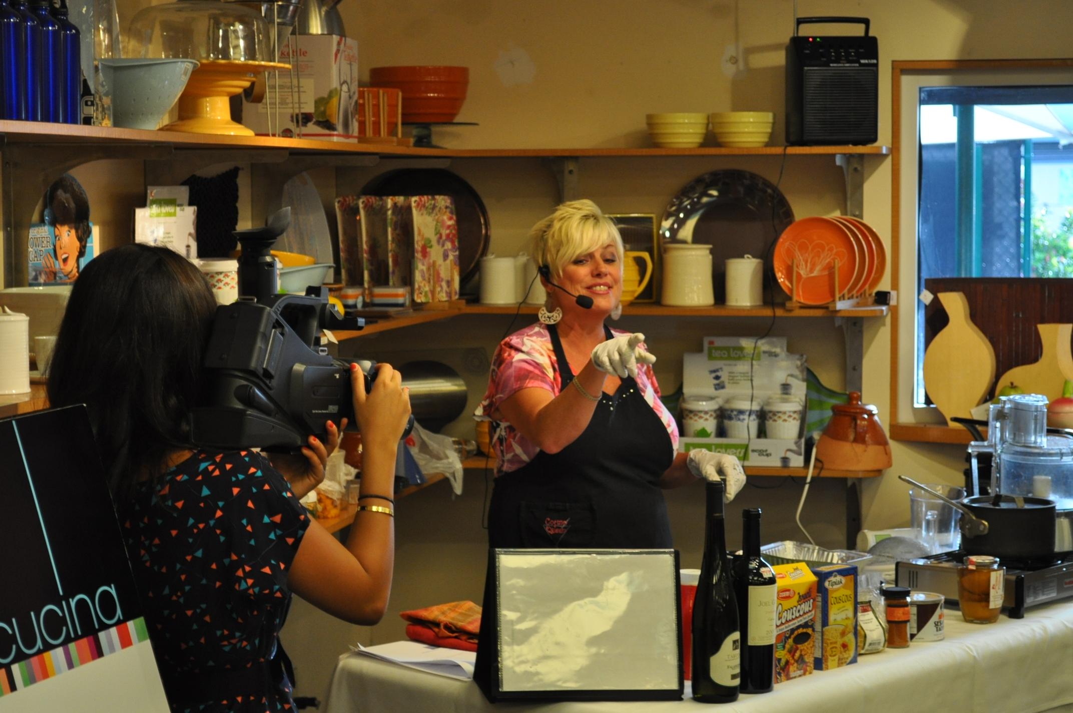 La Diva being filmed for PBS/Channel WBBT2 Florida UVU