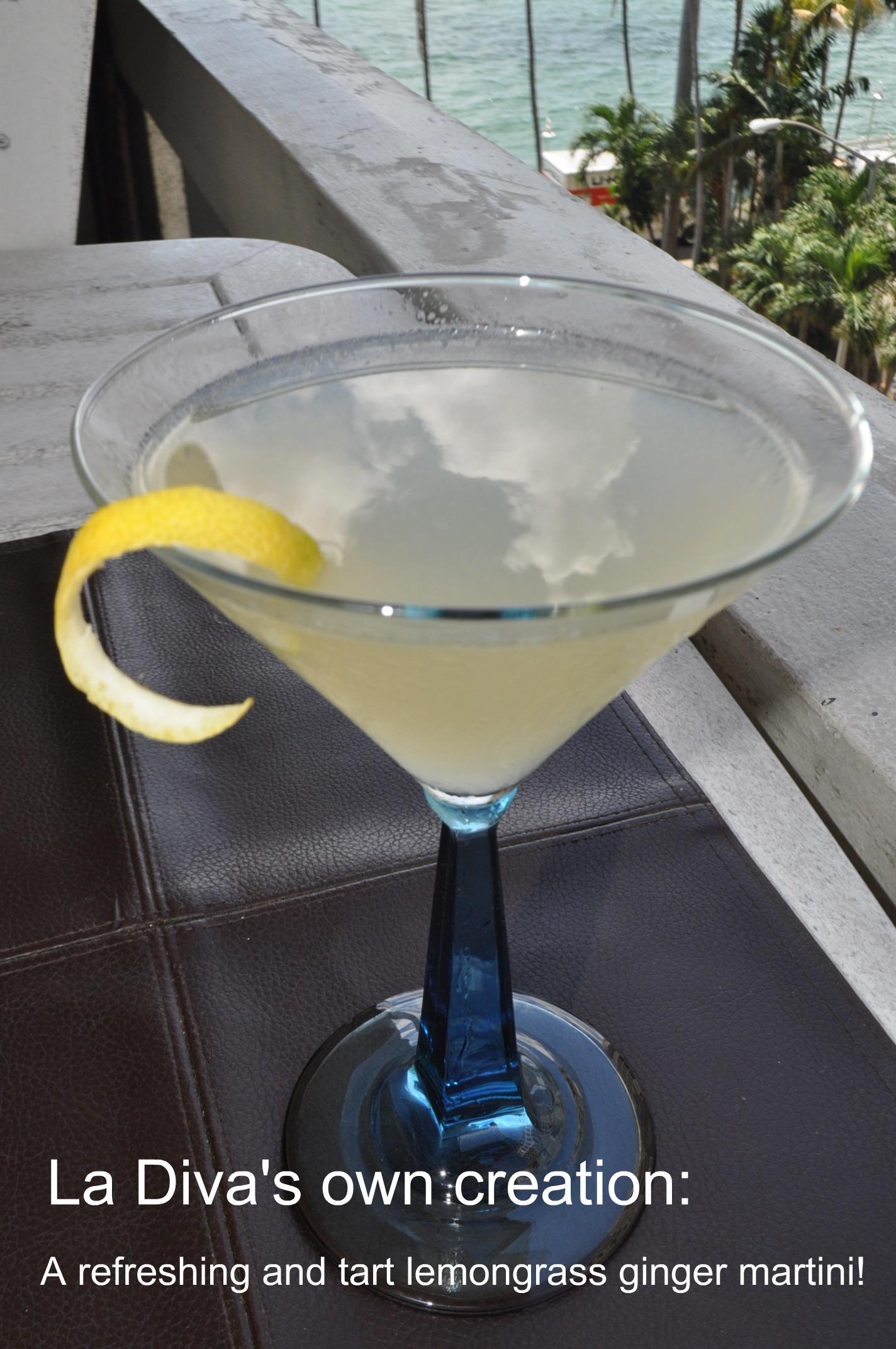 Lemongrass ginger martini - La Diva Cucina