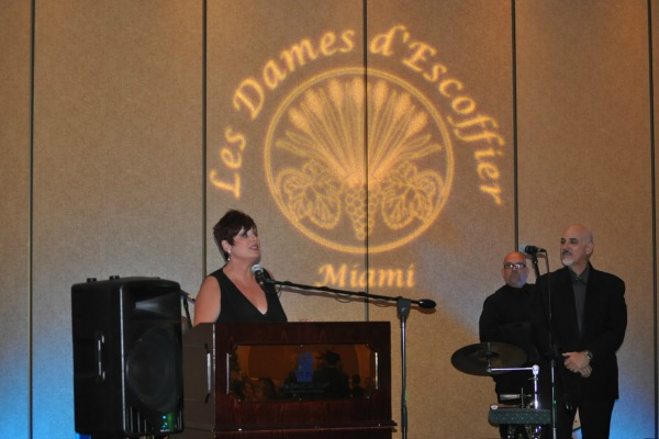 Laura Lafata as Master of Ceremonies at LaDames d'Escoffier