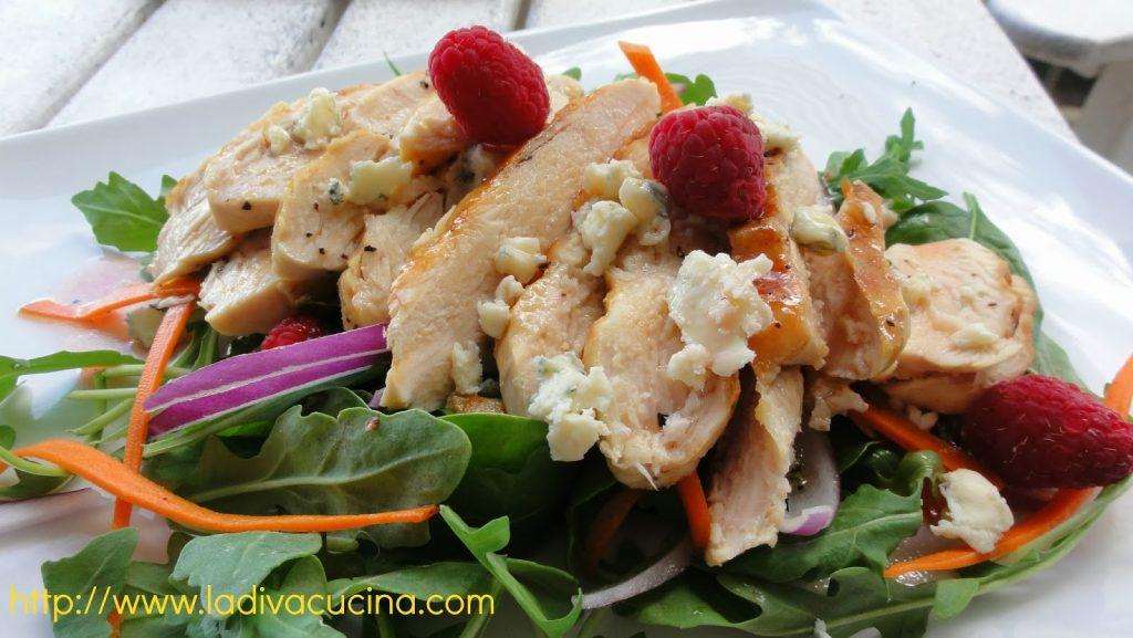 Chicken+raspberry+salad