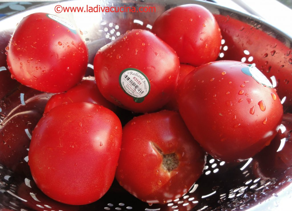 red ripe florida grown tomatoes for fresh tomato sauce