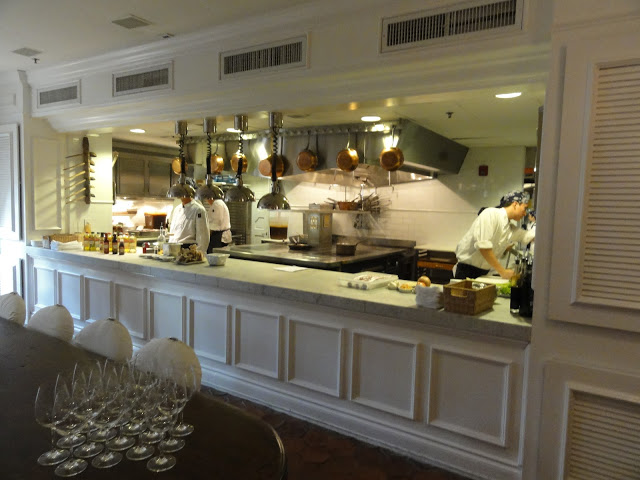 A gorgeous open kitchen of Casa Tua restaurant...wish I had this space for my classes and demos!