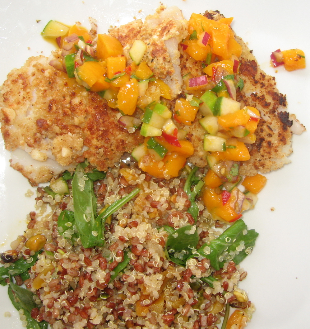Red Rice & Quinoa Salad with Orange, Pistachios and Arugula http://www ...